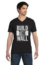 Build The Wall Republican Party Election Campaign V-Neck T-Shirt Political