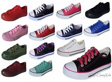 New Boys Girls Youth Classic Low Top Canvas Tennis Shoes Kids Athletic Sneakers
