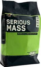Optimum Nutrition Serious Mass Weight, Gainer Protein Carb Powder Drink, 12lb