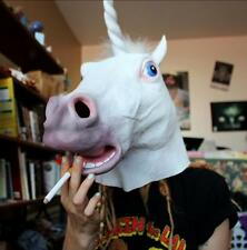 NEW Unicorn Horse Head Mask Halloween Costume Party Prop Latex Rubber Creepy H62