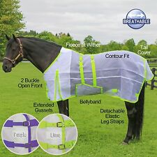 Ripstop Nylon Mesh Bellyband Fly Sheet - LIME OR PURPLE