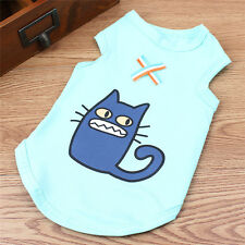 Fashion Pet Dog Vest Clothes Cartoon Animal Small Cat Puppies Summer T-shirt New