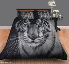 White Tiger Quilt Cover Set by Georges Fine Linen Queen / King Size Bed NEW