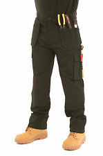 Mens Heavy Duty Cargo Holster Pocket Work Trousers By SITE KING - AUTHENTIC - 07