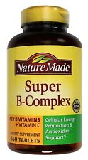 Nature Made Super B-Complex 8 Key B Vitamins plus Vitamin C, 460 920 1840 Tablet
