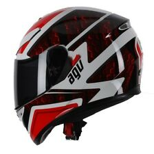 AGV K3 SV Pulse DVS Full Face Motorcycle Helmet - White Black Red