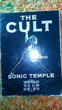 The cult sonic temple world tour 89 90 programme