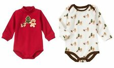GYMBOREE 3 6 12 18 24 Month Red Ivory Choice Gingerbread Boy Bodysuit NWT