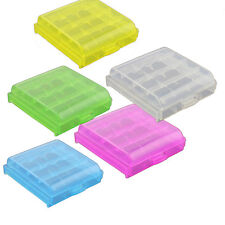 4x Plastic Case Holder Storage Box Cover for Rechargeable AA AAA Battery 1ID