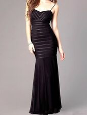 NWT B&A for CACHE Black Striped Mesh Sweetheart Dress Formal Evening Gown