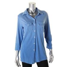 A New Kind 6319 Womens Ombre Adjustable Sleeves Button-Down Top Shirt BHFO