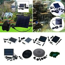 Solar Power Panel Fountain Feature Water Pump Garden Pond Pool Submersible Kit