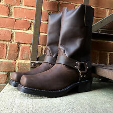 DURANGO MEN'S BROWN RUGGED LEATHER SQUARE TOE HARNESS BOOTS DB594