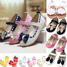 Cute Kid Girl Children Toddler Flower Princess Bow Flats Party Baby Shoes 0-3Y