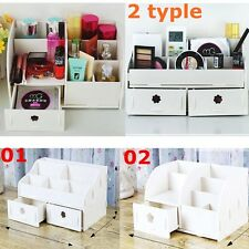 2 Typle Wooden Makeup Cosmetic Jewellery Storage Case Organizer Box Drawers