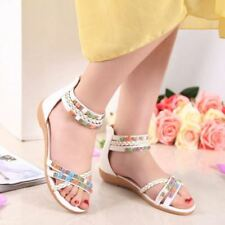 Roma Womens Rhinestone Strappy Ankle Boots Low Heels Casual Comfortbal Sandals