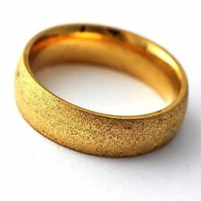 trendy jewelry Scrub 14K gold filled couple Mens Ring Size lot 7 8 9 10 11