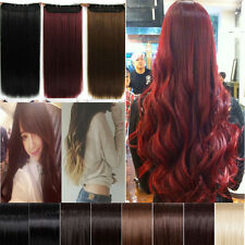 Premium Price 3/4 Full Head Clip In Hair Extensions Curly Wavy Brown Black Blond
