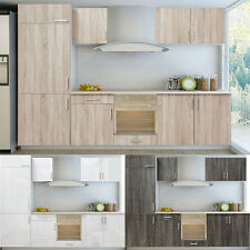 New High Gloss Kitchen Cabinet Unit for Built-in Fridge 3 Colours Selectable