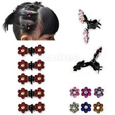 12x Bride Kids Crystal Flower Mini Hair Claw Clamp Hair Clip Pin Hair Accessory