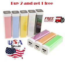 Buy 2 and get 1 FREE 2600mAh USB Portable Charger Power Bank for smart phone
