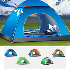 3-4 Person Safety Outdoor Camping Hiking Fishing Waterproof Family Instant Tent