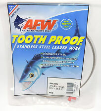 AFW TOOTH PROOF BROWN SINGLE STRAND STAINLESS STEEL LEADER FISHING WIRE 27LB-140