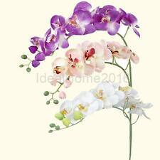 Artificial Simulation Butterfly Orchid Flower Floral Plant Home Restaurant Decor