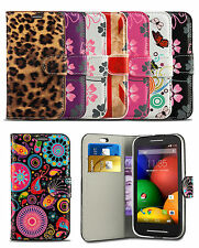 Pattern Flip Leather Wallet Case Cover For Vodafone Smart 4 POWER Mobile Phone