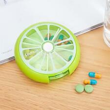 7 Days Pill Box Tablet Capsule Rotating Dispenser Travel Candy Container Storage