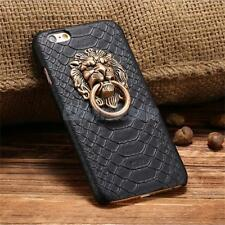 3D Lion Head Metal Holder Stander Shockproof Case Cover For iPhone 5S 6 6S Plus