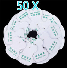 50x Electrode Pads for Tens Acupuncture Digital Therapy Machine Body Massager 3c