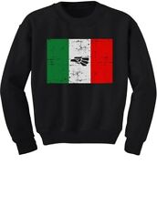 Mexico Flag - Vintage Retro Mexican Flag Youth Kids Sweatshirt Mexico Pride