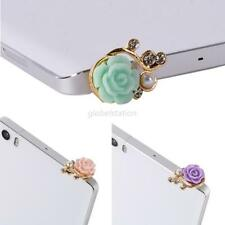 3.5mm Anti Dust Earphone Plug Flower Rose Cover Stopper Ear Cap iPhone Samsung
