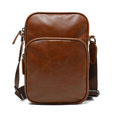 New Men PU Leather Shoulder Messenger Pack Vintage Crossbody Business Casual Bag