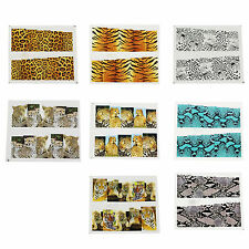 CF503 Water Transfer Nail Full Wrap Decal Nail Art Decoration Sticker Tips