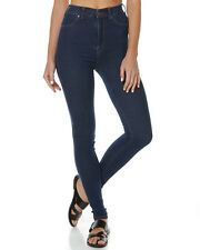 New Dr Denim Women's Solitaire Womens Skinny High Jean Womens Slimfit Blue
