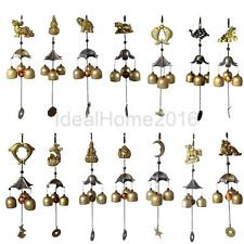 Various Chinese Copper Feng Shui Hanging Wind Chime 3 Bells Garden Ornament