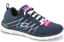 Skechers Flex Apeal Something Fun 11885NVY Navy Womens Sneakers (nysome)
