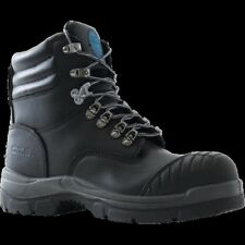 Deep Comfort Patriot Black, Safety Boot, Steel Toe, Mens Work Boot (bktrio)