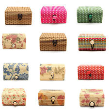 Colorful Mini Modern Bamboo Square Wooden Jewelry Storage Box Craft Case Gifts