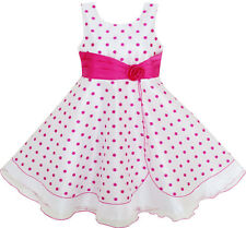 Flower Girl Dress Polka Dot Flower Tulle Party Pageant Unique Design Size 4-12