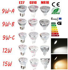 9W 12W 15W MR16 GU10 E27 Ultra Bright LED Spot Light Lamp Warm Cool White Bulb
