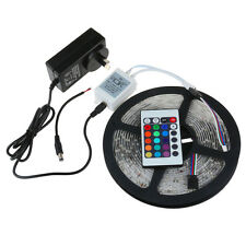 RGB LED Strip Kit:5M 300 SMD3528 Light +24Keys IR Remote Controller+12V 2A Power