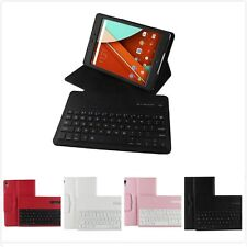 Bluetooth Keyboard Removeable Folio PU Leather Stand Case Tab For Google Nexus 9