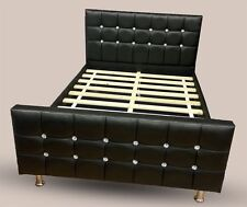 Black Leather Bed For Any Bedroom Designer Bed Available In All Colours & Sizes