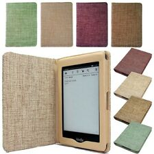 KINDLE PAPERWHITE /4 / 5 / KOBO GLO HD  TOUCH LINEN FABLIC CASE Cover +Protector