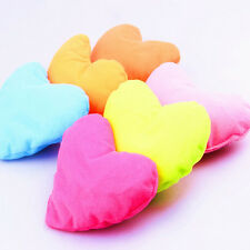 1x Home Kids Bed Pink Heart-shaped Pillow Creative Plush Pet Dog Cat Toy 3C