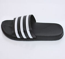 Mens Sports Gym Sandal Slipper Summer Beach Stripe Flip Flops Shoes Black