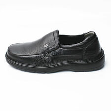 Mens Black Comfort Loafers Sneaker Slip On Casual Dress Formal Leather Shoe